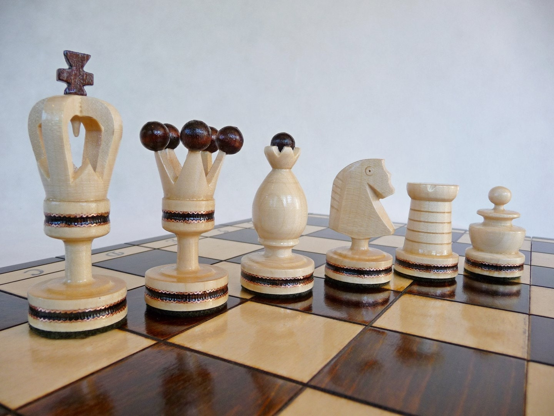 Beautiful Wooden Chess Set Handmade 50x50cm By Stylishchess