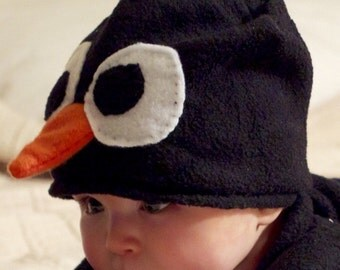 Baby - Toddler Penguin  Costume Hat - Infant Penguin Costume Hat - Child Penguin Costume Hat - Kid's Penguin Costume Hat