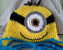 One Eyed Minion Hat for a Toddler