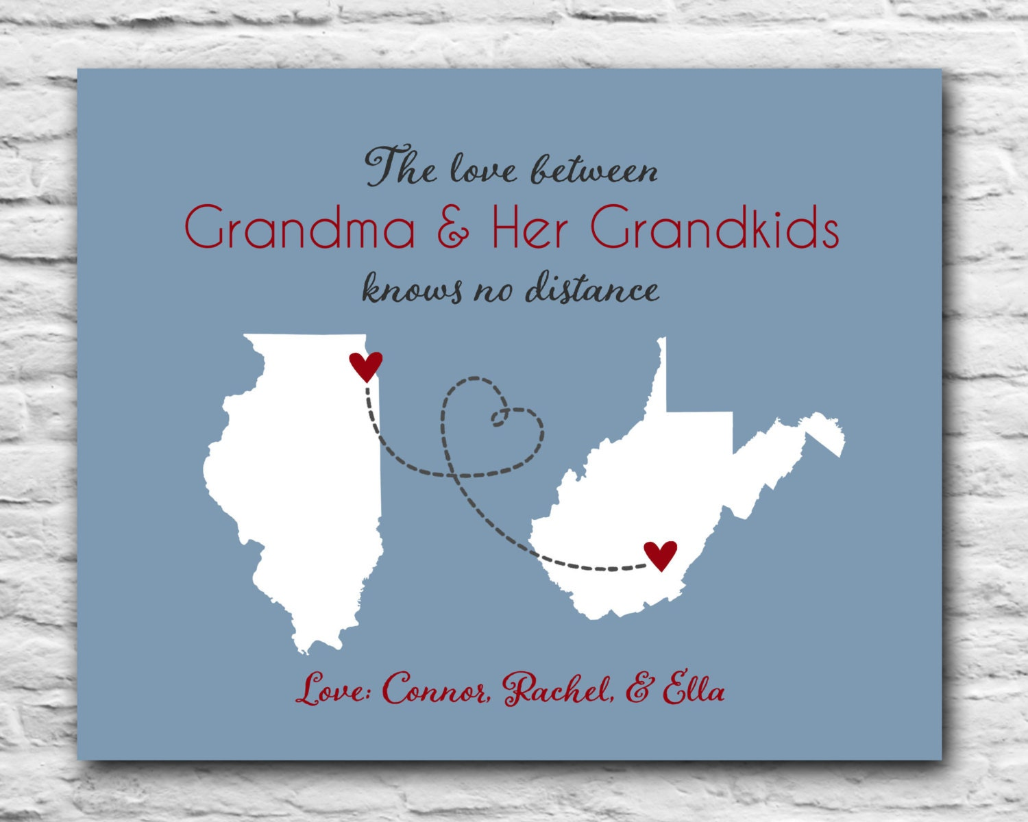 Gift for Grandma Long Distance Grandparents Grandmother
