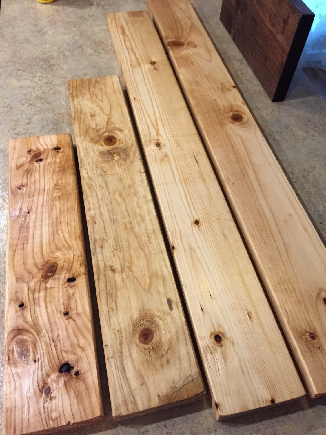 4 piece set handcrafted rustic reclaimed salvaged lumber wood for Reclaimed wood decking