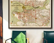 """Map of Vancouver 1924, Old Vancouver map in 4 sizes up to 54x36"""" (137x91 cm) Greater Vancouver, BC, Canada - Limited Edition - Print 23"""