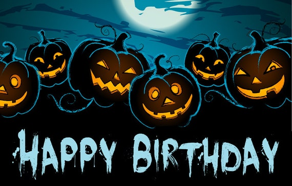 items similar to halloween themed happy birthday banner on etsy - Happy Halloween Birthday