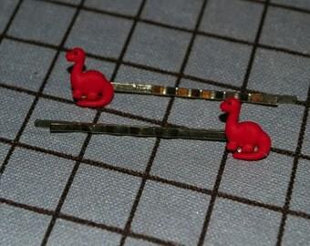 Mini Brontosaurus Bobby Pins