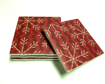 Christmas Snowflake Coasters, Drink Coasters, Tile Coasters, Ceramic Coasters, Table Coasters On Sale