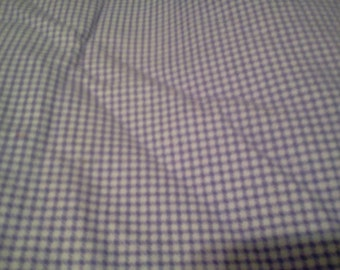 1 1/3 yard Purple Gingham Flannel