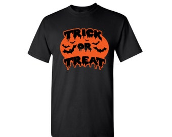 Trick Or Treat Men Shirt, Men Halloween TShirt... Trick Or Treat Halloween Shirt for Men
