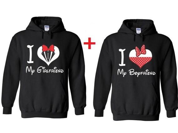I love My Boyfriend and I love my Girlfriend Hooded
