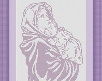 VIRGIN MARY 2/ vierge marie -Counted cross stitch pattern /grille point de croix ,Cross Stitch PDF, Instant download , free shipping