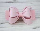 Light Pink Hair Clip, Pink Bow Hair Clip, Bow Hair Clip, Toddler Pink Hair Clip, Girls Bow Hair Clip, Big Bow Hair Clip, 984