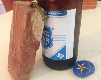 Cedar Wood-N-Nail Bottle Opener