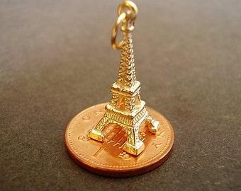 9k 9ct Gold Eiffel Tower Charm