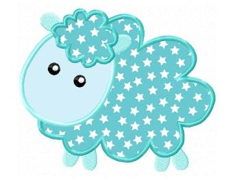 Cute Little Lamb  Applique Machine Embroidery DESIGN NO. 107