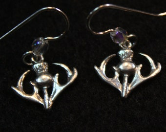 Scottish Thistle - Sterling Silver Earrings