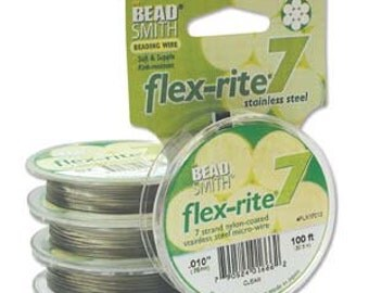 Flexrite 7 Beading Wire - Bronze - .018 - 9.14m