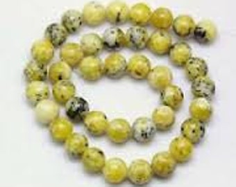 Yellow Turquoise Natural Gemstone - 6mm Rounds - Pack 50