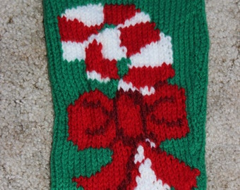 Candy Cane Christmas Sock