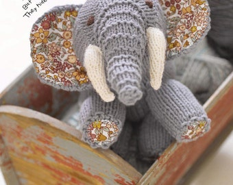 Eddie The Elephant Toy Knitting Pattern Download (802615)