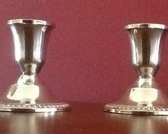 Duchin Silver Candle Holders