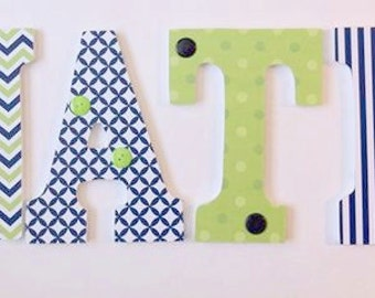 wall letters, wood letters nursery wall letters, boys room letters, personalized baby letters,