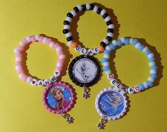 Pony Bead Frozen Bracelets