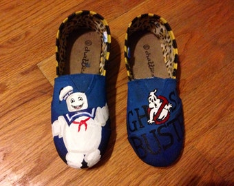Handpainted Ghostbusters Themed Shoes