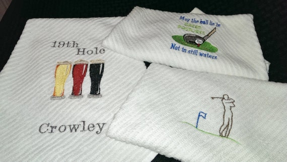 Golf Hand Towels Personalized Hand Towels Man Cave