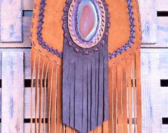 Gaucho Emperatriz fringe bag with stone