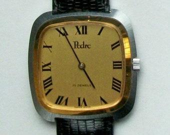 Pedre Mens 17 Jewel Watch! New~