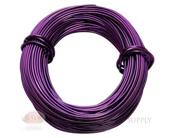 18 Gauge Purple Aluminum Craft Wire 39 Feet 11.8 Meters For Wrapping Wire & Jewelry Work (Free Shipping USA)