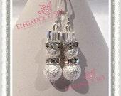 Snowmen Stardust Bead Earrings
