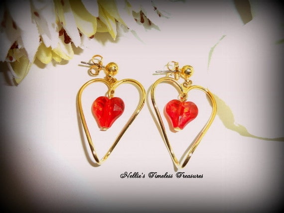 Vintage Avon Two Of Hearts Pierced By NelliesTimelessTreas