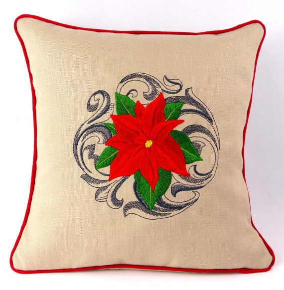 embroidered pillow throw pillow cover decorative cushion