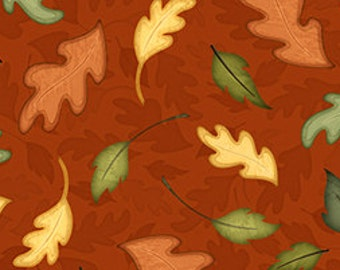 Quilting Treasures Harvest Fare Fabric in Rust 543