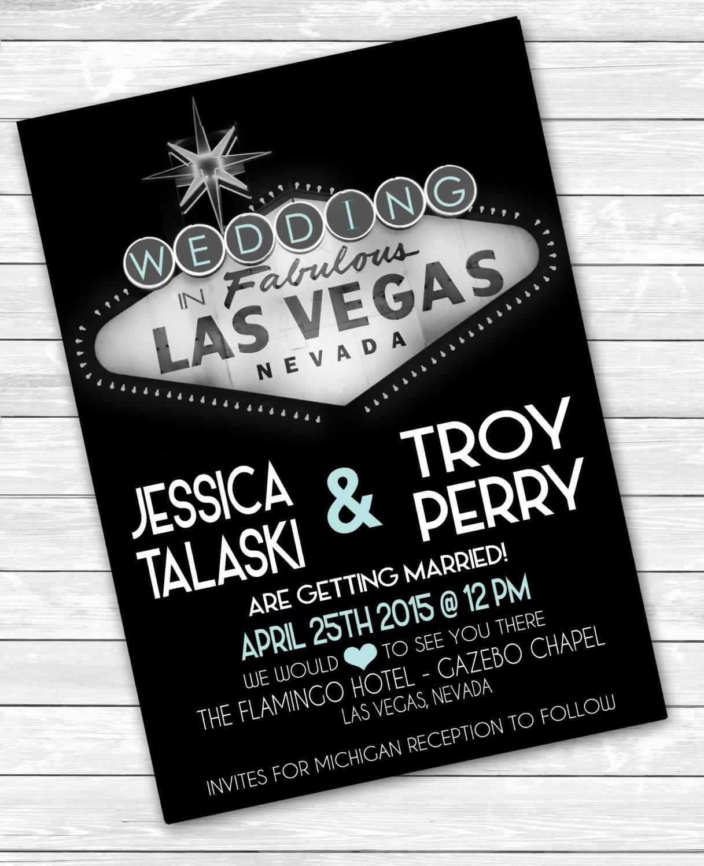 Las Vegas Wedding Invitation Wording