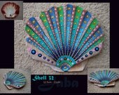 """Shell 32, """"Calm waves"""", hand painted ocean shell"""