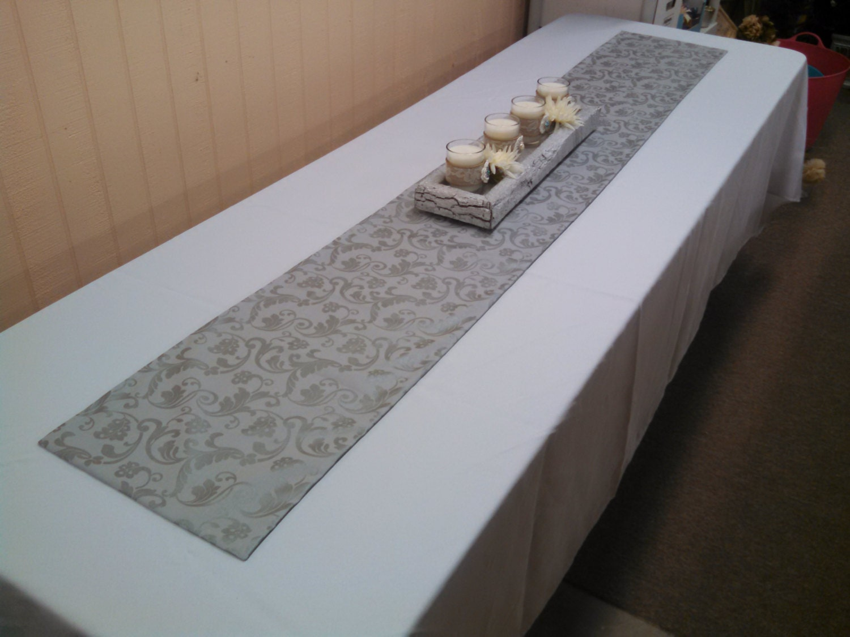 table runner vintage silver table runner lined by. Black Bedroom Furniture Sets. Home Design Ideas