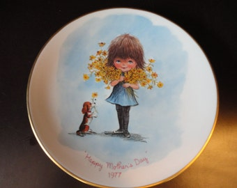 Fran Mar Moppets Mother's Day 1977 plate