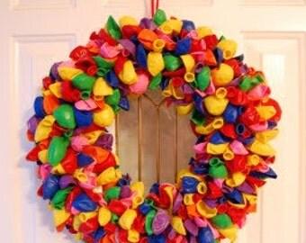 Festive Birthday Balloon Wreath