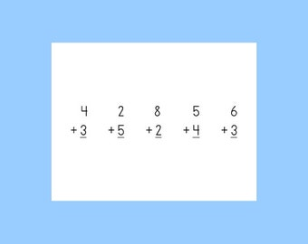 preschool math pages -- hands-on math work page printables for preschoolers -- no writing! 80 different printables pages