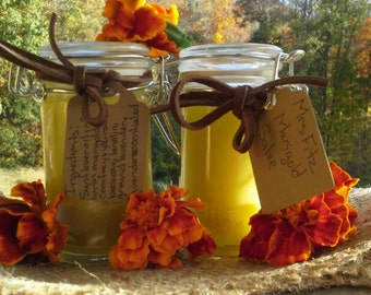 Mrs. Fitz Marigold Salve, Outlander, inspired medicinals, sunflower oil, marigold, yarrow, comfrey, beeswax, Claire Fraiser,  soothing salve