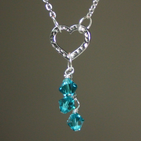 december birthstone cascade necklace