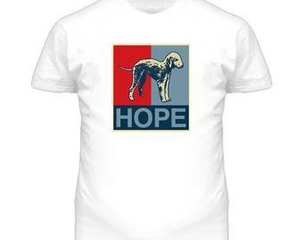 Bedlington Terrier Custom Dog Breed Hope Parody T Shirt