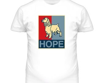 American Water Spaniel Custom Dog Breed Hope Parody T Shirt