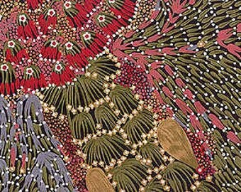 Bush Banana Australian Aboriginal Fabric