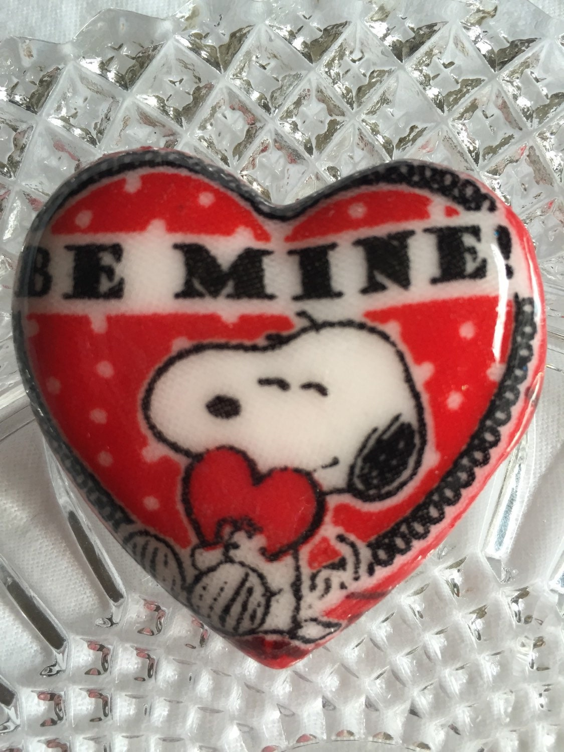 Be Mine Valentines 2-2.5 inch Pendant- Chunky Necklace Pendant- Bail included (not attached)