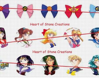 Sailor Moon Bottle Cap Image Sheet