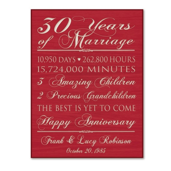 30th anniversary gift for him,30th wedding anniversary gift ...