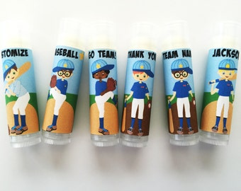 5pc Baseball Party Favors/Baseball/Softball Party Favors/Boy Birthday Party/Lip balm/Chapstick Party Favor/Gift Bags