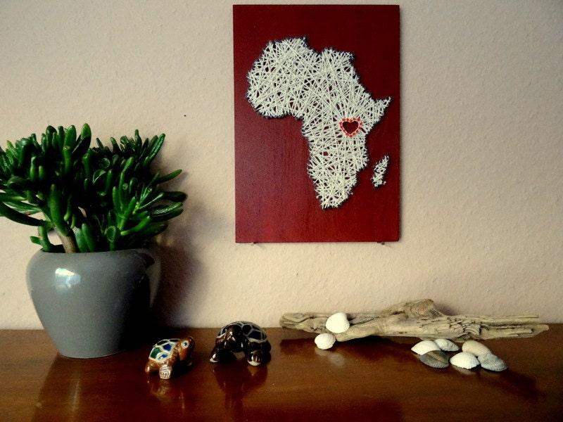 personalisiert landkarte afrika afrikanische deko karte. Black Bedroom Furniture Sets. Home Design Ideas
